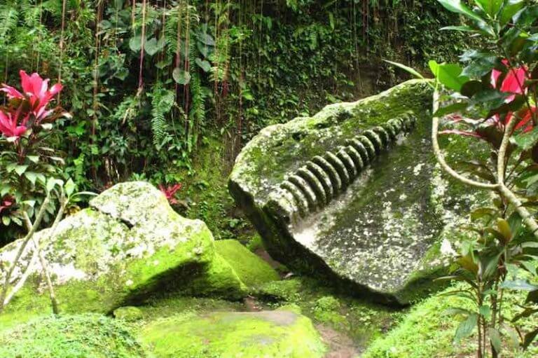 Fosil en Goa Gajah