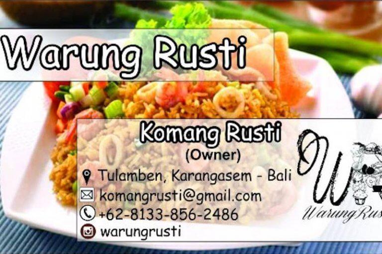 Warung Rusti Donde Comer en Tulamben